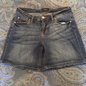 CP women's mid rise denim shorts dark wash